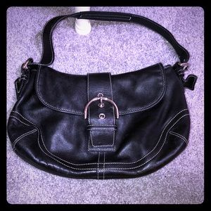 Classic Coach leather hobo bag